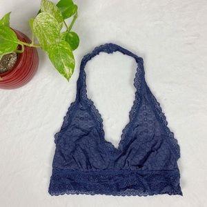 AERIE Crochet Purple Halter Bralette M